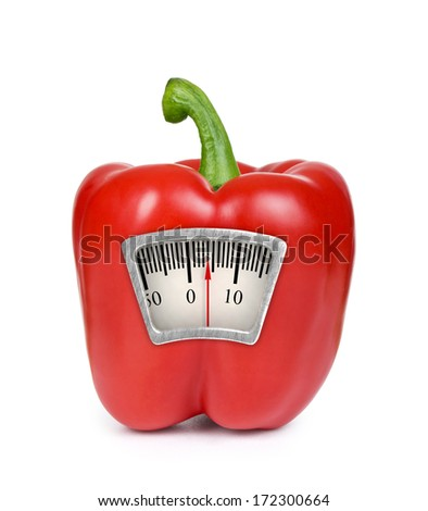 photo of the scales with paprika