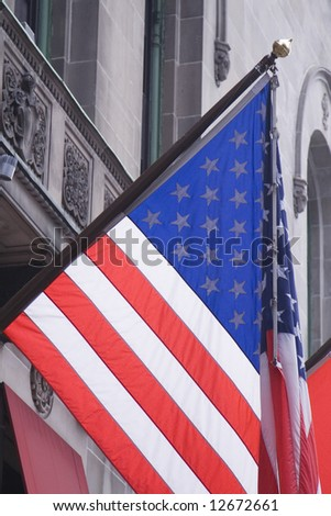 Photo of the US flag - stock photo