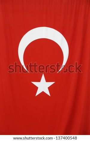 Photo of Turkish National Flag vertical - stock photo