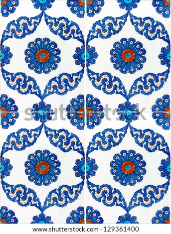 Photo of Turkish Tiles from historical Ottoman mosques in Istanbul, Turkey