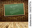 Photo of urban interior with school blackboard - stock photo