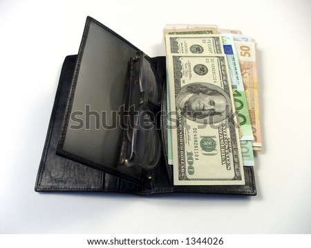 Photo of wallet and  money