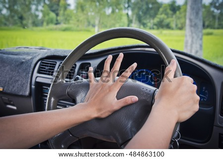 Image result for photos of someone pressing a car horn