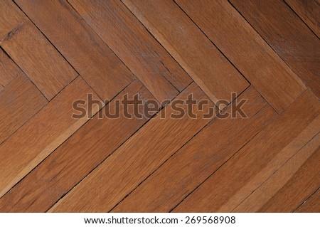 Photo of wood background. Parquet floor. - stock photo