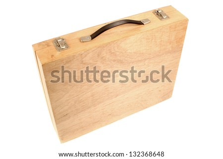 Photo of Wooden suitcase