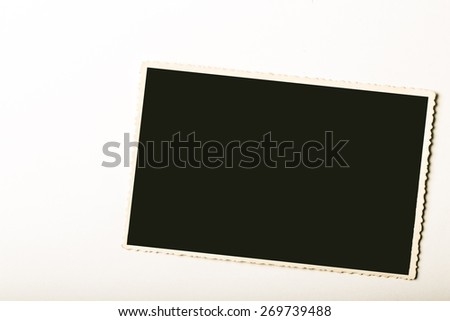 Photo. Old photo frame - stock photo
