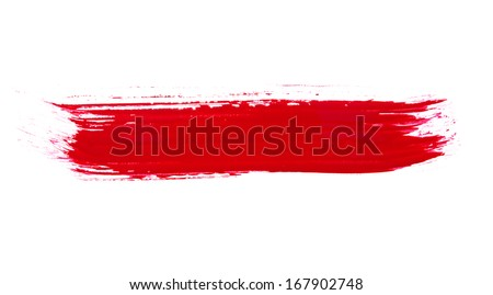 Photo - paint brush texture isolated on white - stock photo
