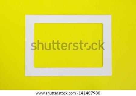 photo paper frame - stock photo