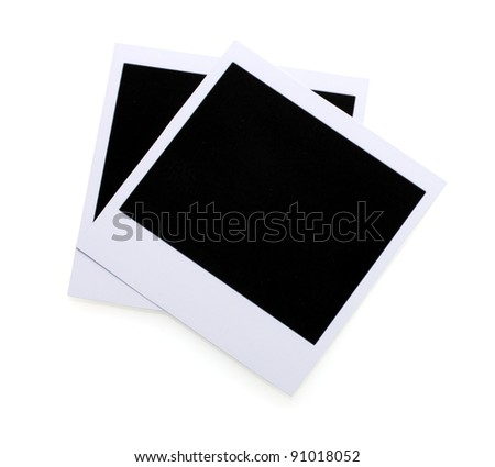Photo papers isolated on white - stock photo