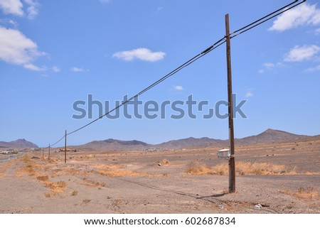 Photo Picture of a Beautiful Dry Desert Landscape