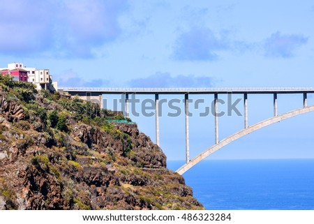 Photo Picture of a Bridge and Valley in the Canary Islands