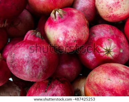 Photo Picture of an Exotic Fruit Red Pomegranate