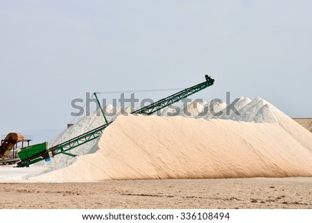 Photo Picture of Salt Flat Production Field - stock photo