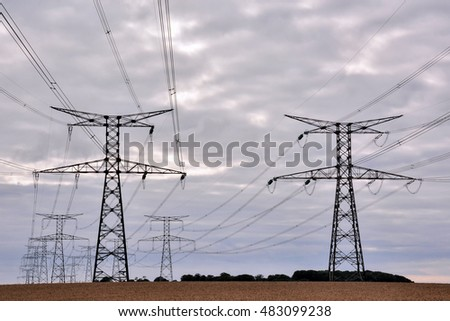 Photo Picture of the Classic Electricity Pylon Pole