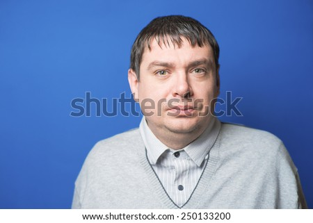 photo portrait middle age man close up