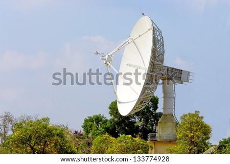 Photo radar on a background of blue sky - stock photo