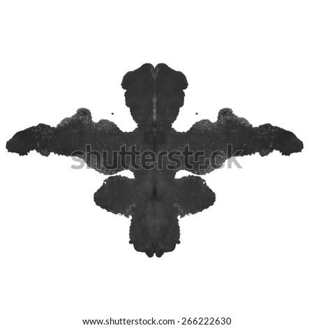photo Rorschach inkblot test isolated on white background - stock photo