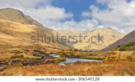 photo scenic nature landscape famous connemara protected landscape - stock photo