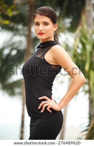 Photo shoot with Russian model on Samui Island, Thailand - stock photo
