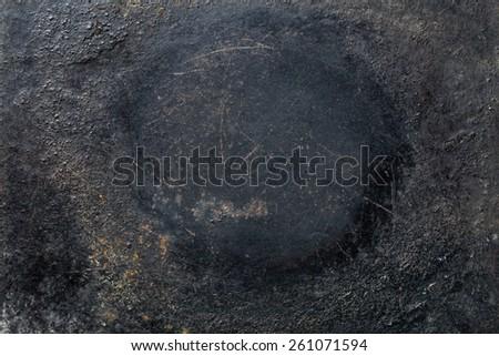 photo shot of rustic black background - stock photo