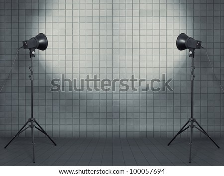 photo studio in modern interior