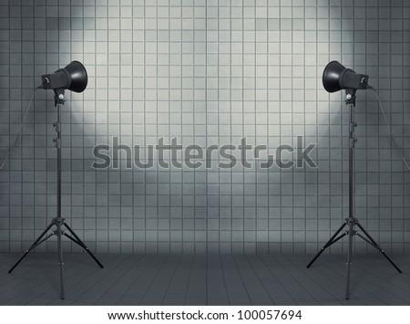 photo studio in modern interior - stock photo