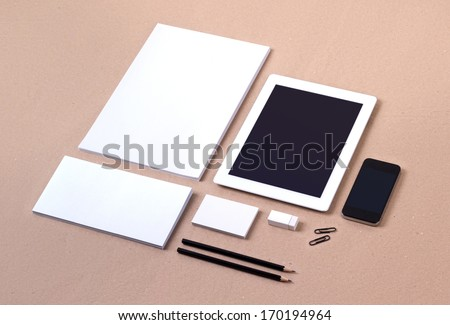 Photo. Template for branding identity. For graphic designers presentations and portfolios. - stock photo