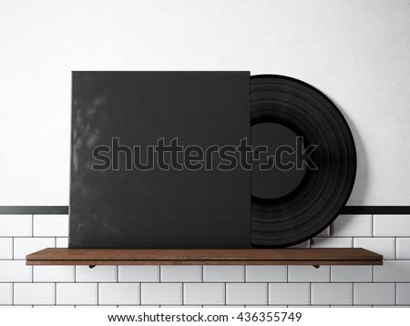 Photo Vinyl Music Album Template On Stock Illustration 436355749 ...