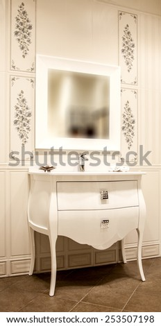 Photo washbasin in the bathroom - stock photo