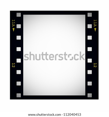 Photo Blank Film Strip Frame Isolated Stock Illustration 112040453 ...