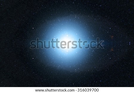 Photo with space stars and light, space jump bacgrkound - stock photo