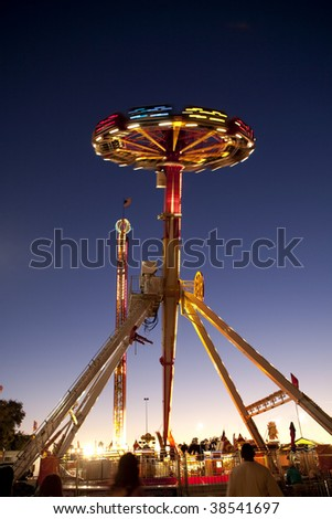 Photograph of a amusement park ride - stock photo