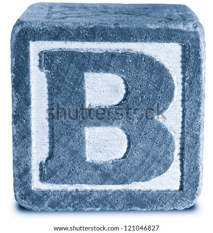 Photograph of Blue Wooden Block Letter B