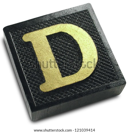 Photograph of Game Tile Letter D - stock photo