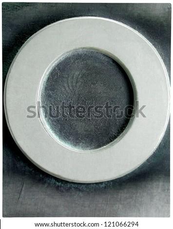 Photograph of Metal Letterpress Letter O - stock photo