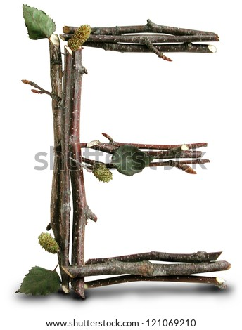 Photograph of Natural Twig and Stick End Quote - stock photo