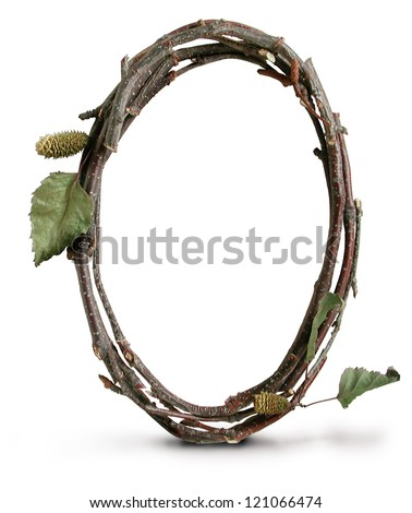 Photograph of Natural Twig and Stick Number Zero - stock photo