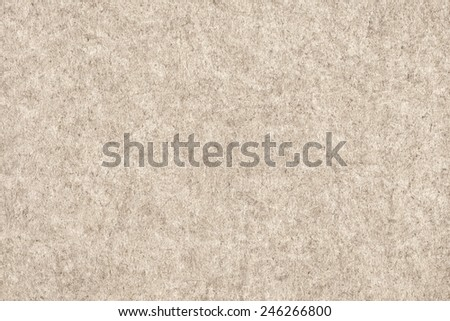 Photograph of Recycle Beige Paper, coarse grain, bleached, mottled, grunge texture sample - stock photo