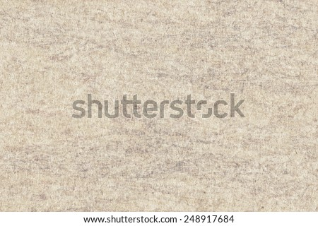Photograph of Recycle Beige Paper, extra coarse grain, bleached, mottled, grunge texture sample. - stock photo