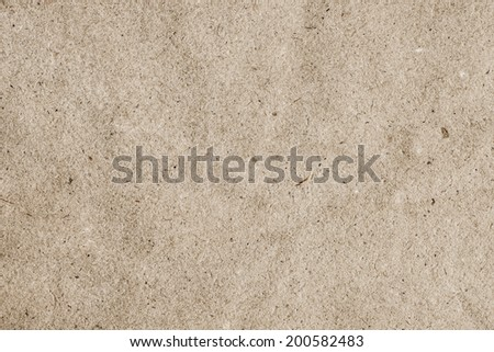 Photograph of recycle brown kraft paper, coarse, crumpled grunge texture - detail