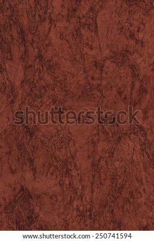Photograph of Recycle Dark English Red  Pastel Paper, coarse grain, bleached, mottled, grunge texture sample. - stock photo