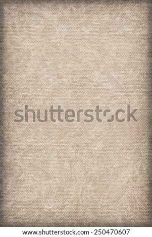 Photograph of Recycle Grayish Beige Striped Pastel Paper, coarse grain, bleached, mottled, vignette grunge texture sample.