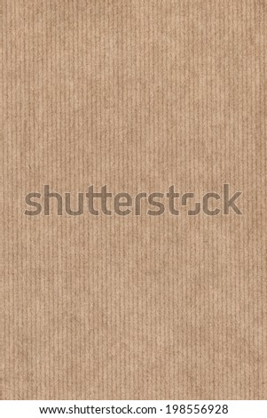 Photograph of recycle light brown kraft striped paper coarse grain, grunge texture sample - stock photo