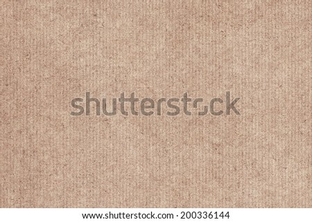 Photograph of recycle striped Light Brown Kraft paper, coarse grain, grunge texture sample