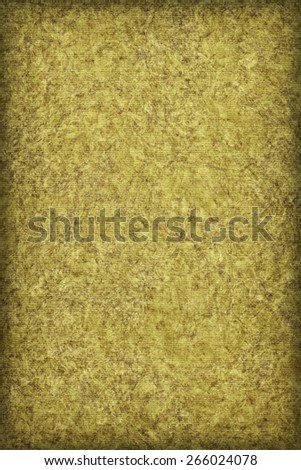 Photograph of Recycle Striped Lime Yellow Pastel Paper, bleached, mottled, coarse grain, vignette grunge texture sample. - stock photo