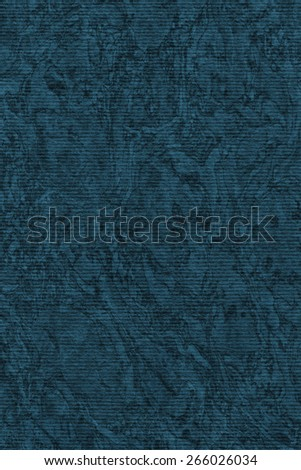 Photograph of Recycle Striped Navy Blue Pastel Paper, bleached, mottled, coarse grain, grunge texture sample. - stock photo