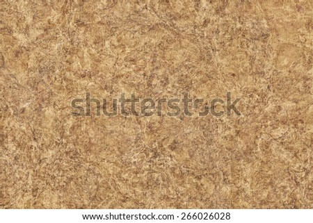 Photograph of Recycle Striped Ocher Pastel Paper, bleached, mottled, coarse grain, grunge texture sample. - stock photo
