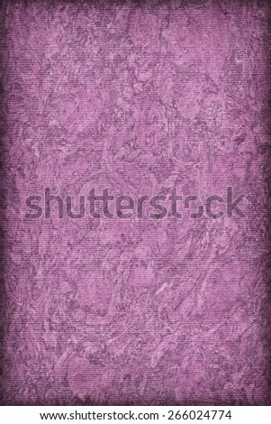 Photograph of Recycle Striped Purple Pastel Paper, bleached, mottled, coarse grain, vignette grunge texture sample. - stock photo