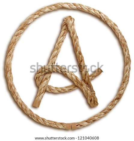 Photograph of Rope Letter A