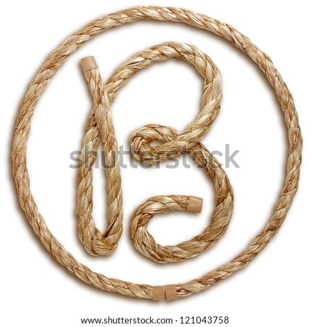 Photograph of Rope Letter B - stock photo